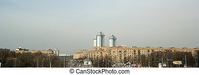 Cityscape, Russia, Moscow, Panorama area of Indira Gandhi