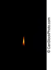 Candle flame against a black background