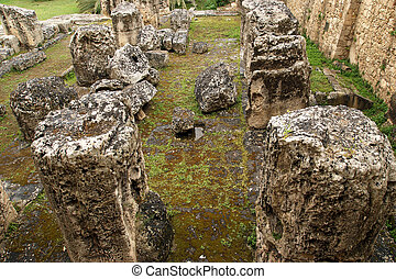 Ancient Greek APOLLOS TEMPLE Syracuse Siracusa, Sarausa--...