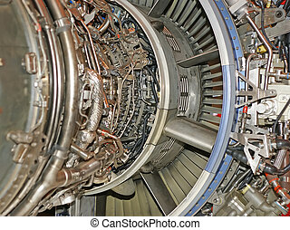 Large jet engine detail viewed from below (other views...