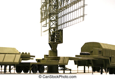 military mobile radar station , Russia