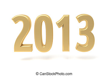 2013 New Year gold sign