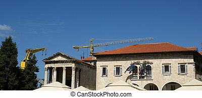 Historic building in the city of Pula, Croatia