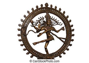 indio, hindú, dios, shiva, Nataraja, -, Señor,...