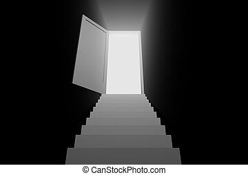 light door to the new world 3d