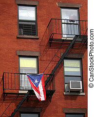 cuba patriot - cuban flag hanged on an typical american...