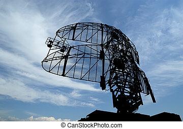 modernos, Radar, Projetado, automático, localizando,...