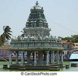 Suchindram temple dedicated to the gods Shiva, Vishnu and...