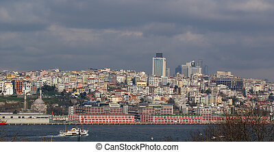 Istanbul, Turkey, view of the city by the Bosphorus Strait