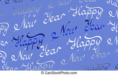 Happy New Year background - Happy New Year blue background