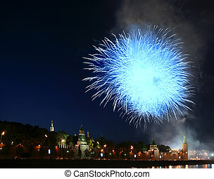 Fireworks over the Moscow Kremlin Russia, June 12, 2011