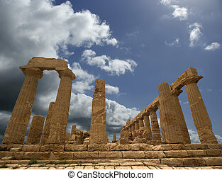 Ancient Greek Temple of Juno (V-VI century BC), Valley of...