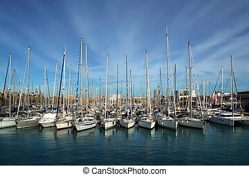 Barcelona Harbor near Las Ramblas Catalonia, Spain