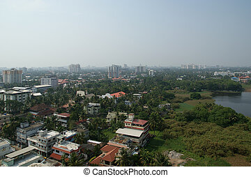 General view of the city, Cochin kochi, Kerala, South India...