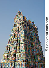 Meenakshi hindu temple in Madurai, Tamil Nadu, South India...