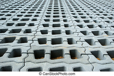 Permeable Pavers Lawn grid of reinforced concrete structures...