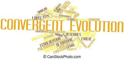 Word cloud for Convergent evolution - Abstract word cloud...