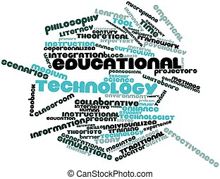Educational technology - Abstract word cloud for Educational...