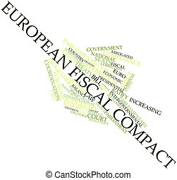European Fiscal Compact - Abstract word cloud for European...