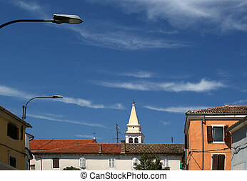 streets of the old town of Porec, Istria, Croatia