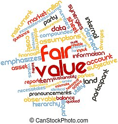 Fair value - Abstract word cloud for Fair value with related...