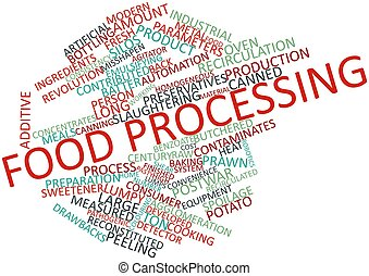 Food processing - Abstract word cloud for Food processing...