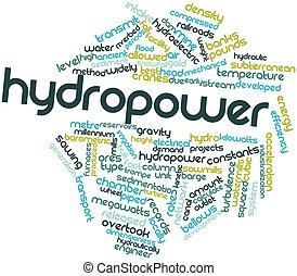 Hydropower - Abstract word cloud for Hydropower with related...