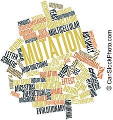 palabra, nube, Mutación
