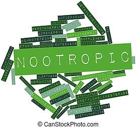 Nootropic - Abstract word cloud for Nootropic with related...