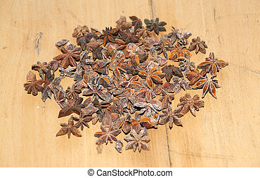 Star-Anise. Beautiful and exotic spice.