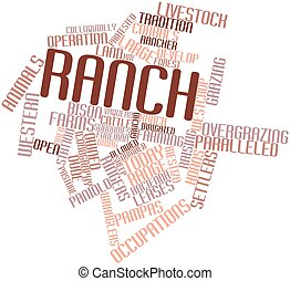 Word cloud for Ranch - Abstract word cloud for Ranch with...