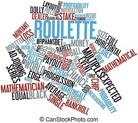 Word cloud for Roulette - Abstract word cloud for Roulette...