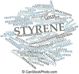 Word cloud for Styrene - Abstract word cloud for Styrene...