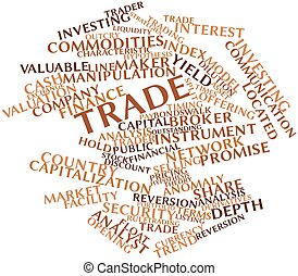 Trade - Abstract word cloud for Trade with related tags and...