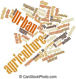 Urban agriculture - Abstract word cloud for Urban...