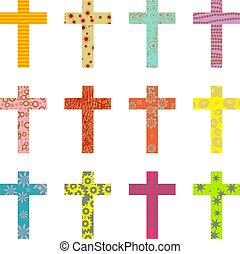 patterned cross - abstract decorative patterned cross...
