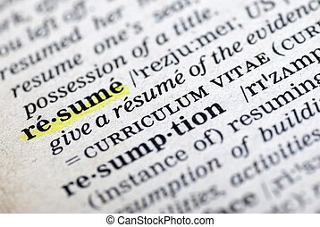 resume - This is an image of text.