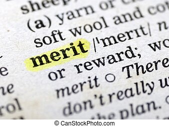 merit - This is an image of text