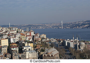 View from Galata tower to  Istanbul, Turkey.