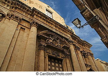CATHEDRAL OF SYRACUSE (Siracusa, Sarausa)-- historic city in...