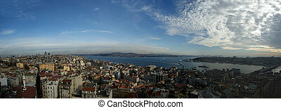 Turkey, Istanbul, the city view from the bird's eye
