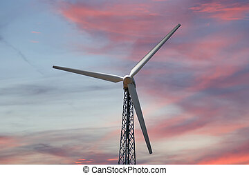 Wind turbines farm - alternative energy source