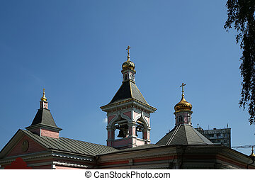 Moscow, Russia. Church of the Transfiguration of the Saviour...