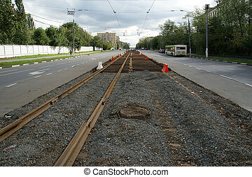 Roadworks, Moscow, Russia