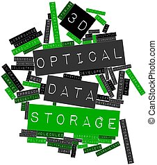 3D optical data storage - Abstract word cloud for 3D optical...