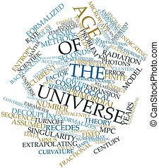Word cloud for Age of the universe - Abstract word cloud for...