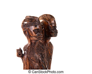 Ebony Figurine This is a souvenir of Kenya of ebony statue