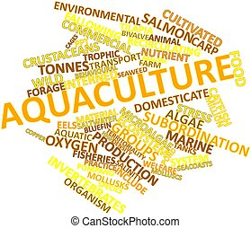 Aquaculture - Abstract word cloud for Aquaculture with...