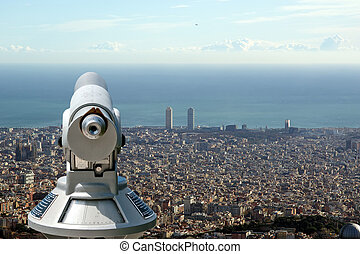view of Barcelona from the Tibidabo hill