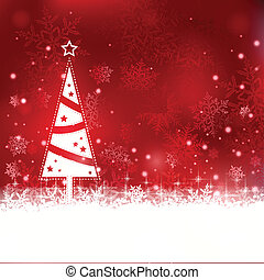 Beautiful soft red Christmas background with Christmas tree...